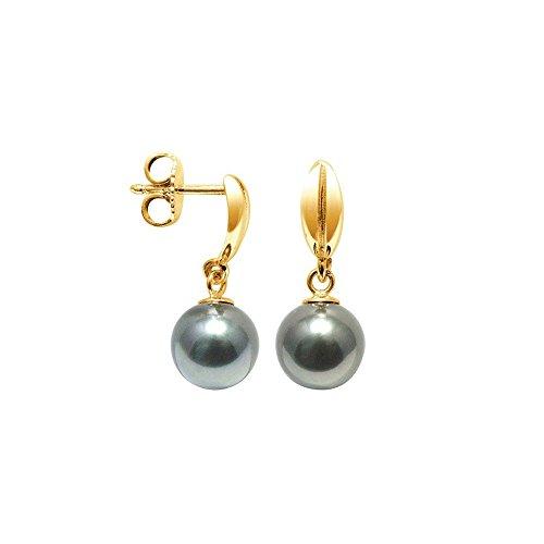 Pendientes Perla de Tahiti y oro amarillo 750/1000 - BPS K312 W - Blue Pearls