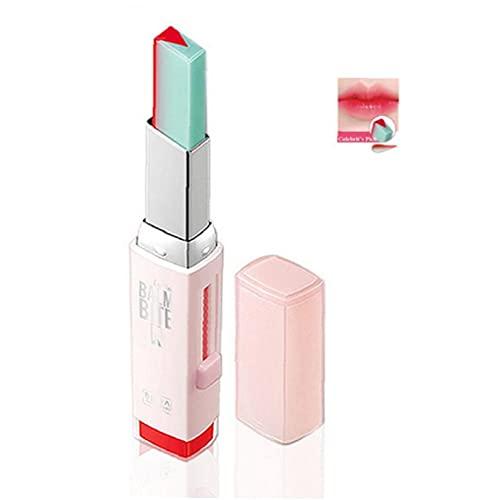 Budstfee Koreanische Lippenstifte V-Schneiden von zweifarbigen Bonbongeschmackswürdigkeit seidig feuchtigkeitsnahrhafte Lippenstifte Balsam Kosmetik