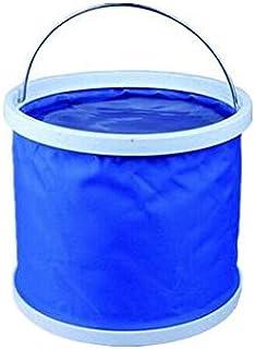 دلو مياه قابل للطي والنقل للغسيل والتخييم والصيد، 9 لتر، ازرق