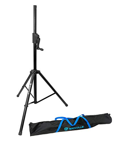 Rockville RVCS2 Heavy-Duty Tripod Adjustable Crank-Up DJ PA Speaker Stand+Bag