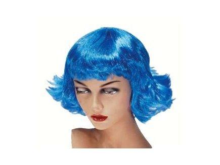 Perruque neon retro bleu