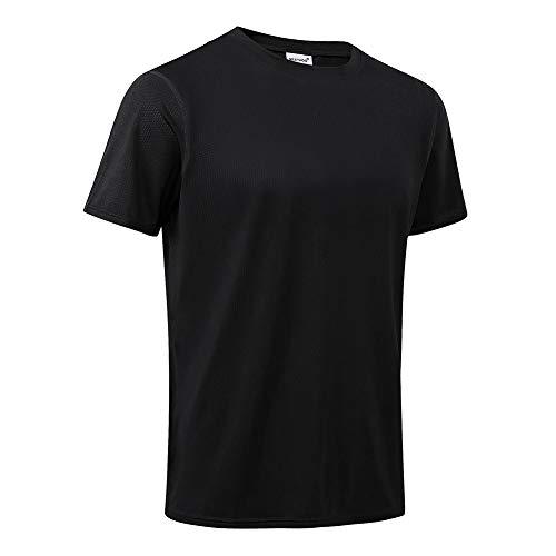 MeetHoo Sportshirt Herren,Laufshirt Kurzarm Funktionsshirt Atmungsaktiv Schnelltrocknendes T Shirt Trainingsshirt Running Gym für Männer