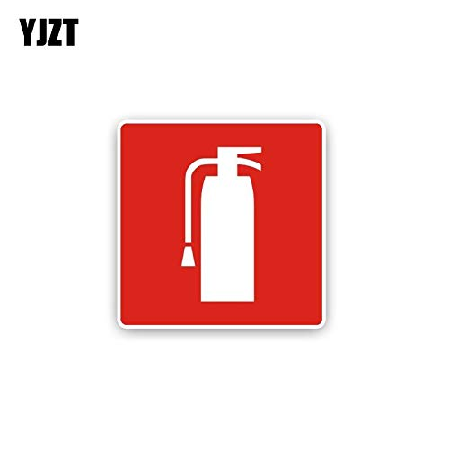 BLOUR YJZT 15CM * 15CM Autoaufkleber Persönlichkeit Feuerlöscher PVC Aufkleber 12-0411