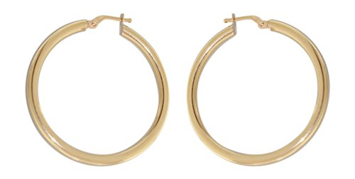 Hobra-Gold 3,6 cm Grosse Creolen Gold 585 Ohrringe - Goldcreolen - Creole - GOLDOHRRINGE