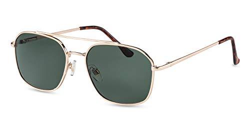 Filtral Pilotenbrille/Retro Flieger-Sonnenbrille für Herren aus Metall mit Doppelsteg F3088321