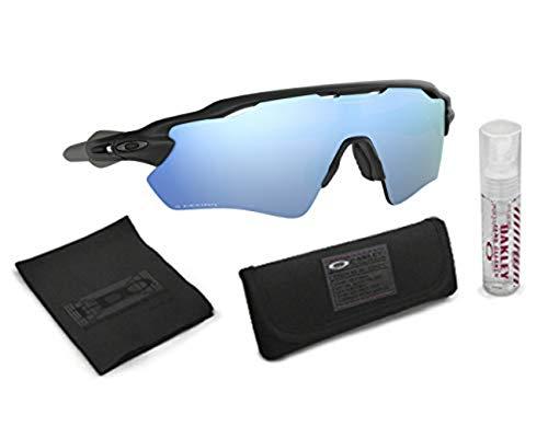 Oakley Radar EV Path Sunglasses (Matte Black Frame/Deep Prizm Water Polarized Lens) with Lens Cleaning Kit (Black)