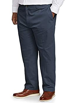 Amazon Essentials Men s Big & Tall Relaxed-fit Casual Stretch Khaki Pant fit by DXL Navy 48W x 32L