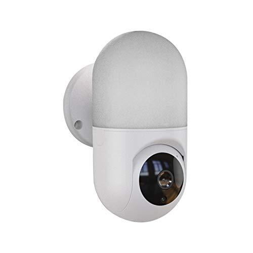 Smart Bulb Kamera Wandlampe Nachtsicht Wireless WiFi Handy Fernbedienung 360 Grad Panorama-Sicherheitsüberwachung Pulley (Farbe: Weiß)