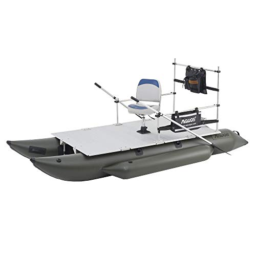 AQUOS New 12.5ft Heavy-Duty for Two Series Inflatable Pontoon Boat with...