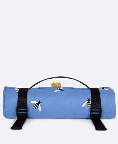 Anorak Buzzy Bee Große blaue Picknickdecke – Familiengröße/Platz für sechs Personen