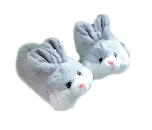 panda supermarket Tierpantoffel-Elefantpantoffelwinterhaus warme rutschfeste Baumwollpantoffel Tierische Hausschuhe Hamster Hausschuhe (L (40-44/EU), Rabbit)