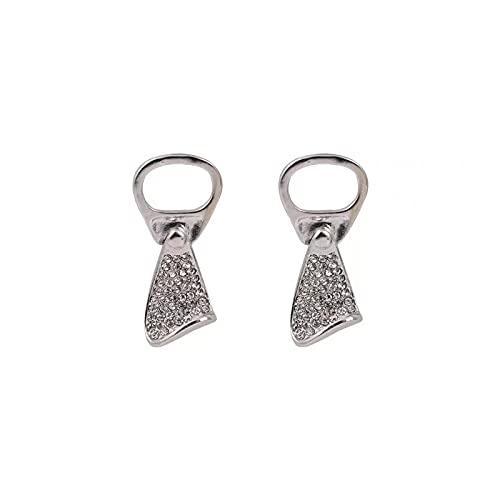 Puede tirar de aretes de anillo diseño de nicho femenino aretes de viento frío de grado de moda ins aretes personalizados