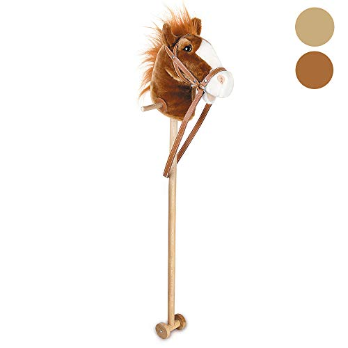 Toyrific Natural Hobby Horse With Sound - 100cm Brown by Toyrific