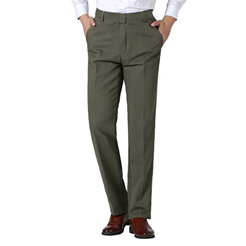 Mens Pants, Men's Casual Classic-Fit Wrinkle-Resistant Pant Dress Pant Jogger Pants Trouser Pockets with Pockets