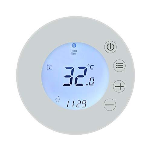 VISLONE Termostato inteligente WiFi, controlador de temperatura programable con pantalla LCD, control remoto de aplicación Tuya, compatible con Alexa Google Home Control de voz