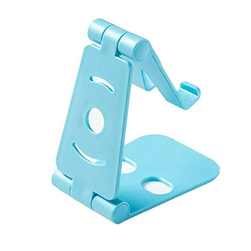 Adjustable Cell Phone Holder Stand Desk Swivel Foldable Mount Universal Bracket (Blue)