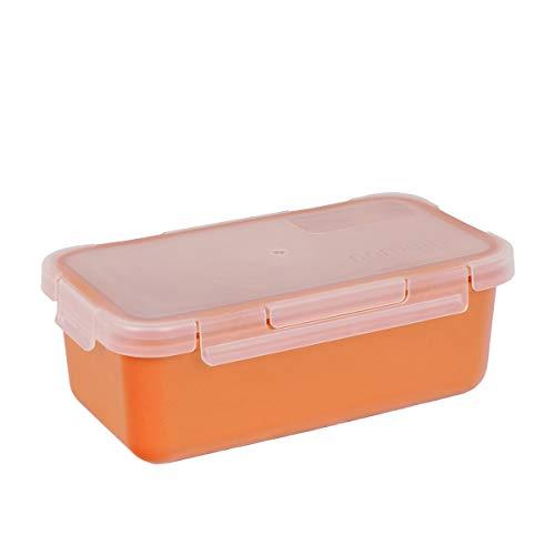 Valira Porta alimentos - Contenedor hermético de 0,75 L hecho en España, color naranja