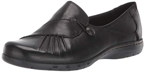 Rockport Cobb Hill Women's Paulette Flat, Black, 8 W US
