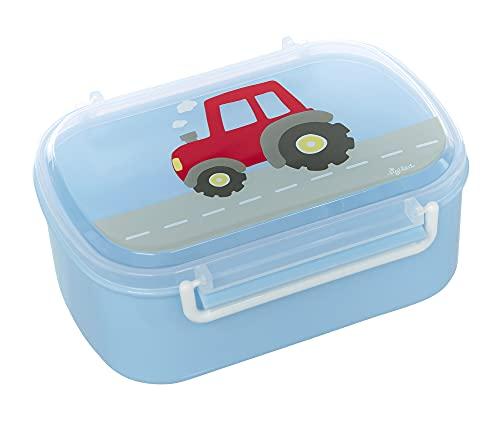 SIGIKID 25200 broodtrommel tractor broodtrommel BPA-vrij meisjes en jongens lunchbox aanbevolen vanaf 2 jaar blauw/rood