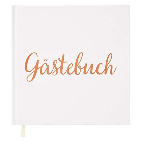 Your Perfect Day Hochzeit Gästebuch Rosegold Weißbuch mit Elfenbeinband Rosegoldfolie Stanzen und...