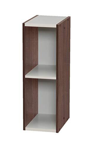 Marca Amazon- Movian Librería modular con 2 estantes en MDF, Marrón, 20 x 29 x 60 cm