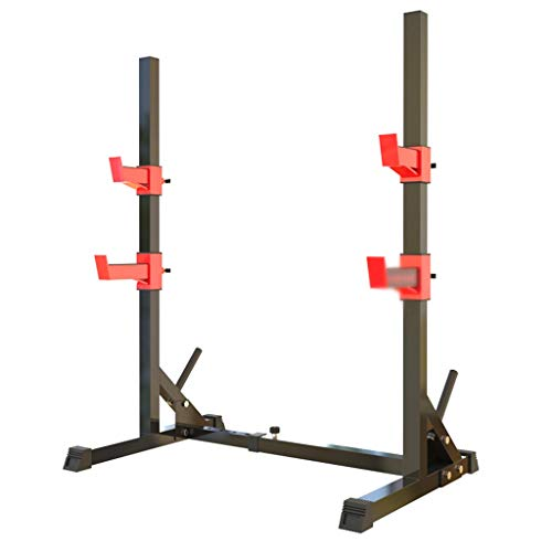 Krafttraining Squat Rack Bankdrücken Home Free Squat Fitnessgeräte Langhantel Rack Set Gewicht Bank Bankdrücken (Color : Black, Size : 124 * 69 * 153cm)