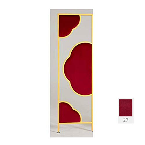 Review Even Metal Screen Room Divider Screen,with Premium Flower Shape Suede,4 Panel Room Divider Sc...