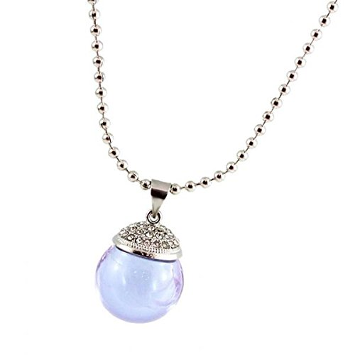 Collar Colgante de Cristal Mini Botella de Aceite Esencial Perfume - Púrpura Clara