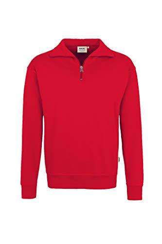 HAKRO Zip-Sweatshirt, rot, Größen: XS - XXXL Version: XL - Größe XL