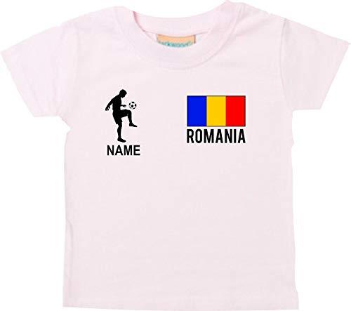Shirtstown - Camiseta de fútbol para bebé, diseño de Rumania con nombre personalizado Rosa. 116