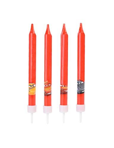 candeline candele festa bambino disney cars 4 pz