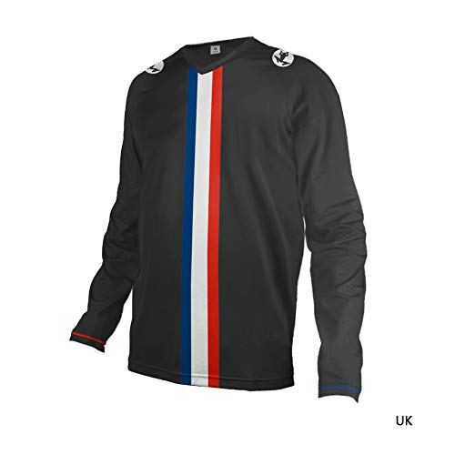 Uglyfrog Herren Downhill Jersey, MTB Männer T-Shirt, Mountainbike/Motocross Atmungsaktives Und Schnell-Trocknend Kurzarm/Lange-Trikot, Enduro/Offroad/Gelände/Quad Cross Kleidung