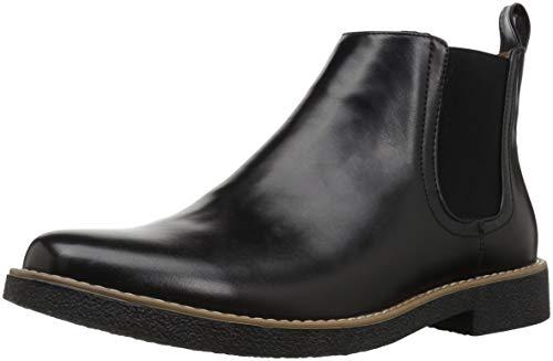 Deer Stags mens Rockland Memory Foam Dress Casual Comfort chelsea boots, Black Black, 10.5 US