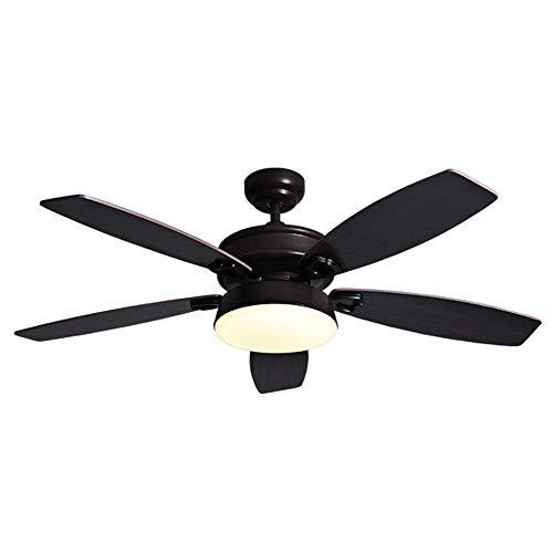 Deckenventilator Mit Ventilator, Mit Heller Heimdekoration 3 Geschwindigkeitsstufen 115 cm Länge, Dreifarbiges Licht, Einstellbares Fernbedienungslüfterlicht