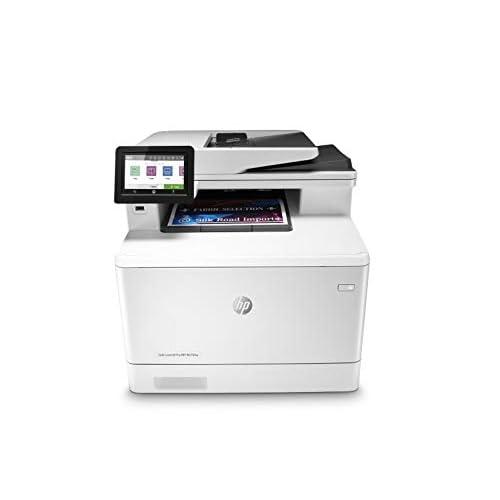 HP Color LaserJet Pro MFP M479fnw Stampante Laser a Colori, Wi-Fi, Multifunzione, Scanner, Fotocopiatrice, Fax, ADF, Capacità Vassoi Carta 300, Velocità27 ppm, Display Touch Screen, Bianco