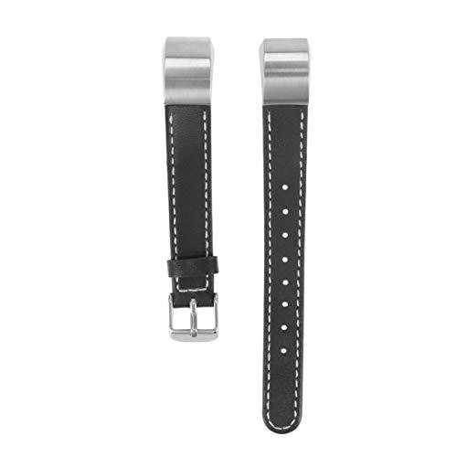 NICERIO kompatibel für Fitbit alta hr armbänder Leder Armband ersatz Leder verstellbare armbänder kompatibel für Fitbit alta hr (schwarz)