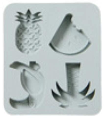 Kokosnussbaum Flamingo Silikon Kuchenform Eiswürfel Schokolade Ergänzungsfutter Backen Lutscher Schimmelpilzform Kreativität, Kokosnuss Wassermelone