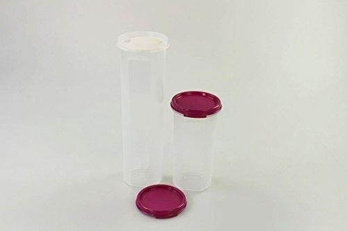 TUPPERWARE Circular 1,1L lila mit Dosiereinsatz + 650 ml Dose Rondovision Vorrat