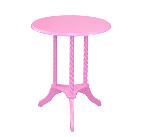 Frenchi Home Furnishing Round End Table, Pink