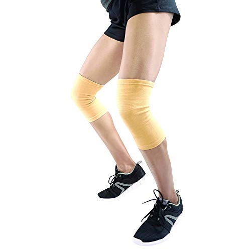 Elastische Kniebandage | leichte elastische Kompressionsbandage bei Gelenkschmerzen & Verstauchungen | links oder rechts für Damen & Herren | S M L XL & XXL XL (XL)