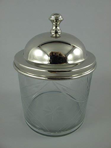 G1043: Rústico Geschilffene Bote Cristal, Bote de Mermelada, Latas de Reserva, Senfglas