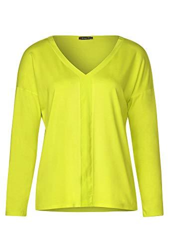 Street One Damen Basic Shirt aus Cupro Lime 44