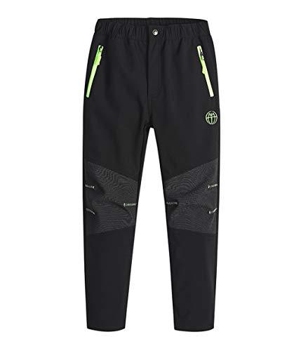 CAMLAKEE Pantalones Senderismo Niño Invierno, Pantalones Trekking Impermeables, Pantalones de Montaña Niña...