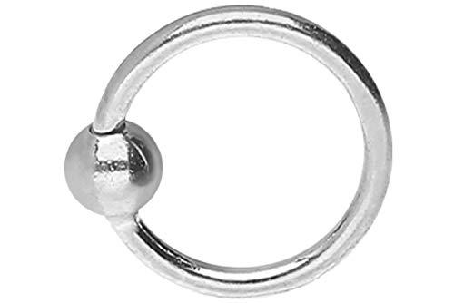 PIERCINGLINE 925er STERLING SILBER Nasenpiercing | KUGEL | Piercing Nase Ring biegbar | Farb & Größenauswahl