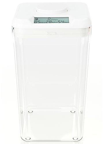 kSafe XL: Time Locking Container to limit drinking and other vices. 10.4' inside height. (White Lid + XL Clear Base)