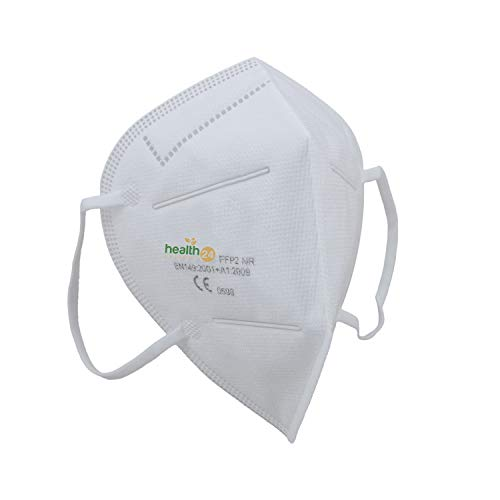 FFP2 Atemschutzmaske 10 Stück Packung CE-Zertifizierte Atem Maske im hygienischen PE-Beutel Staubschutzmaske für alle Bereiche