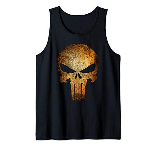 Marvel Punisher Rusted Skull Logo Tank Top