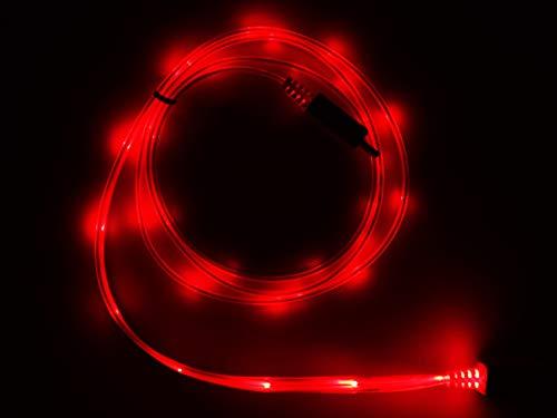 LifeShift USB Ladekabel Datenkabel, 1m, rot beleuchtet, ohne Fließeffekt, LED-Technik, kompatibel mit iPhone