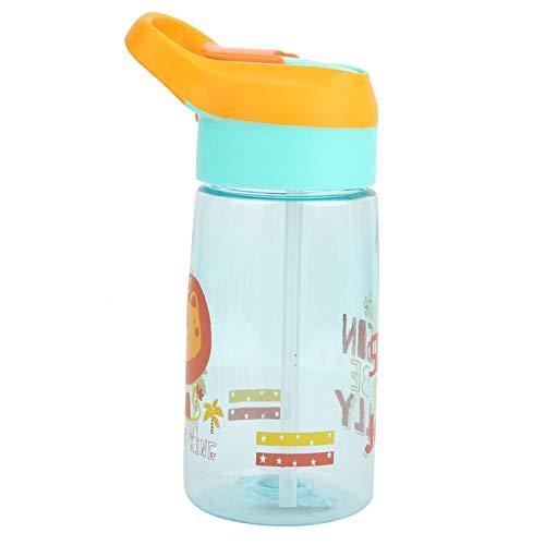 Botón que controla el interruptor de botella Botella de agua para niños de 550 ml, para bebés/bebés/niños pequeños para leche, agua, café, chocolate caliente, jugo, batidos