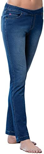 PajamaJeans Stretch Jeans for Women Jean Leggings for Women Blue M product image